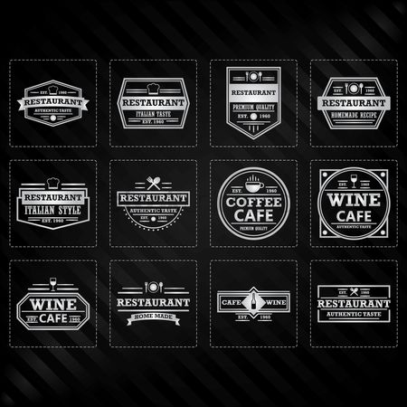 Luxuries : Collection of restaurant labels