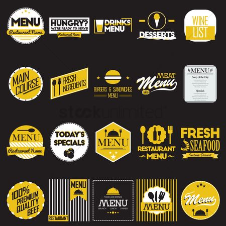 Main : Collection of restaurant menu designs