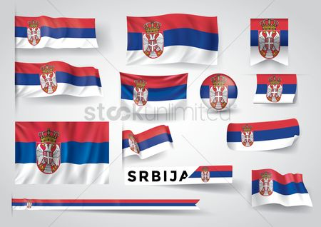 Patriotic : Collection of serbia flags