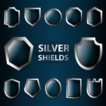 Silver : Collection of silver shields