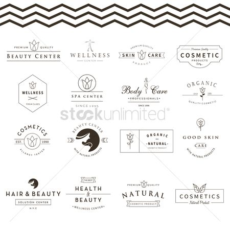 Cosmetic : Collection of skin and beauty care labels