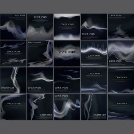 Styles : Collection of smoke design background