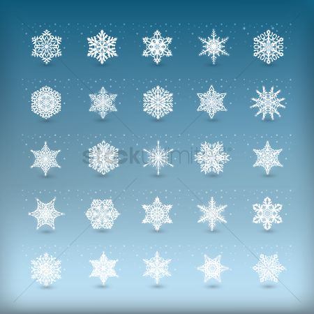 Snow : Collection of snowflake cutout design