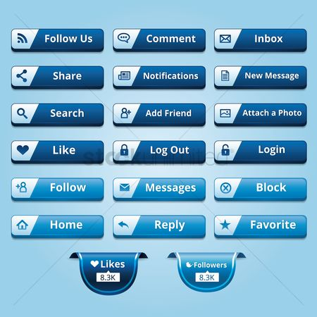 Notification : Collection of social media buttons