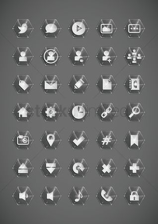 Comment : Collection of social media icon