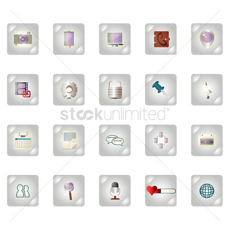 Downloading : Collection of social media icons