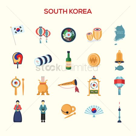 Wooden sign : Collection of south korea icons