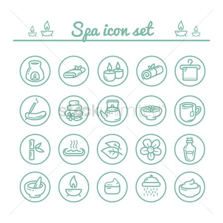 Teapot : Collection of spa icons