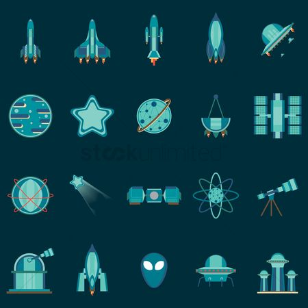 Spaceships : Collection of spaceship planets star