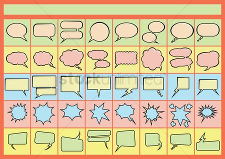 Chat bubbles : Collection of speech bubbles