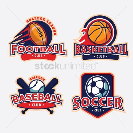 Baseball : Collection of sport club labels