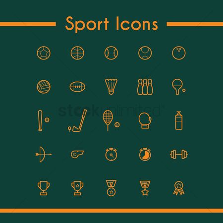 Boxing glove : Collection of sport icons