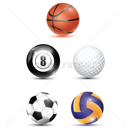 Footballs : Collection of sports balls
