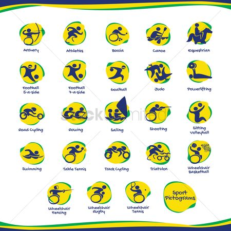 Wheelchair : Collection of sports for athletes with disabilities