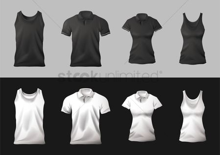 Fashions : Collection of t-shirts and singlets