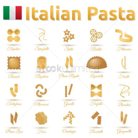 Traditional : Collection of talian pasta