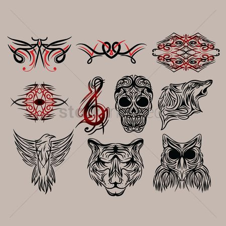 Patterns : Collection of tattoo design