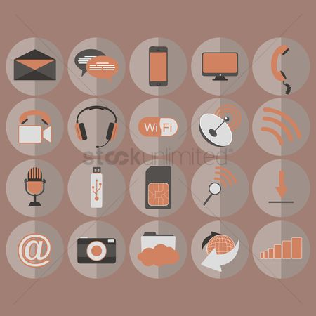 Dishes : Collection of technology icons