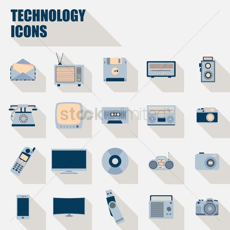 Tv : Collection of technology icons
