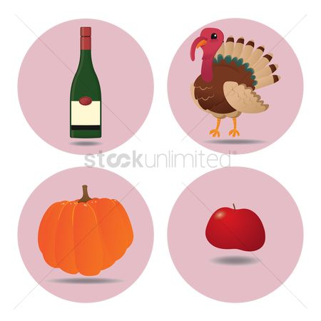 Red wine : Collection of thanksgiving items