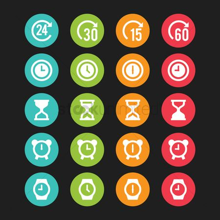 Sand clock : Collection of time icons