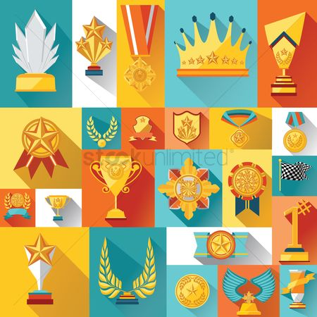 Achievement : Collection of trophies and medals