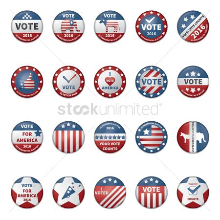 Votes : Collection of usa election badges