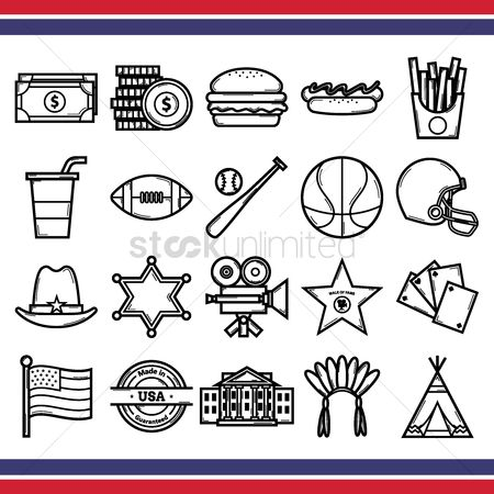 Tents : Collection of usa icons
