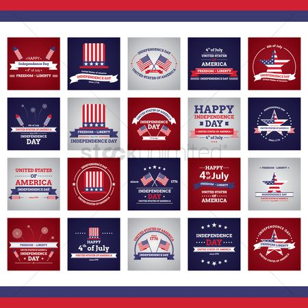 Freedom : Collection of usa independence day designs