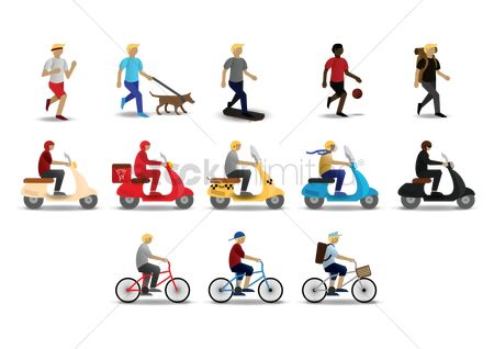 Scooters : Collection of various activities