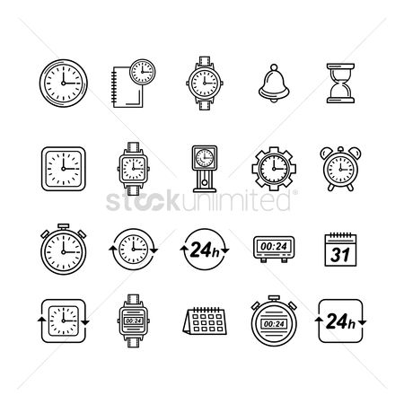 Minute : Collection of watch icons