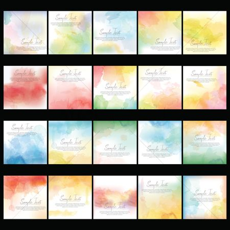 Background abstract : Collection of watercolor background design