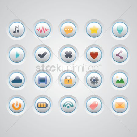 Favourites : Collection of web buttons