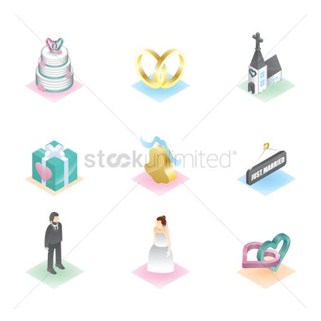 Engagements : Collection of wedding items