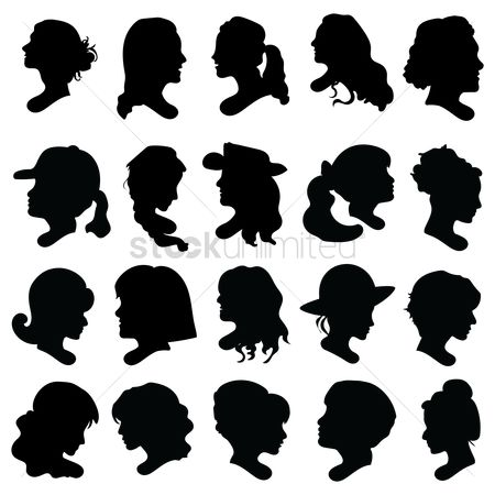 Fashions : Collection of woman s silhouette