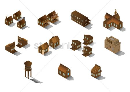Shops : Collection of wooden buildings