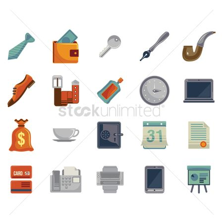 Smoking pipe : Collection office icons