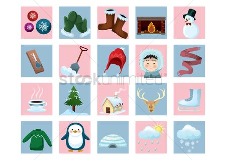 Sock : Collection winter icons