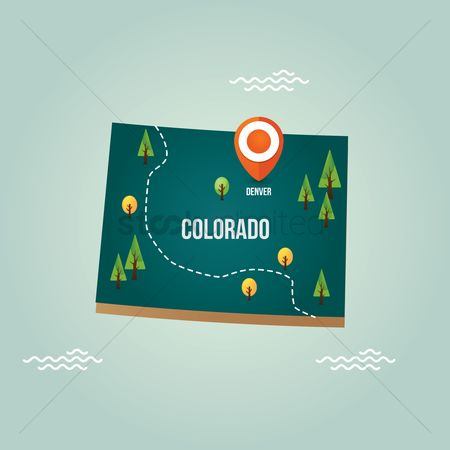 Capital city : Colorado map with capital city