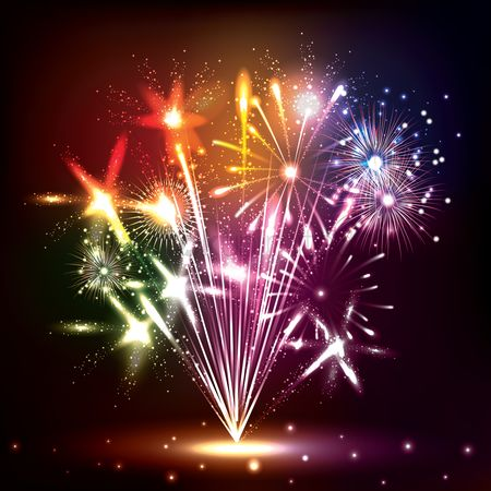 Sparkle : Colorful fireworks
