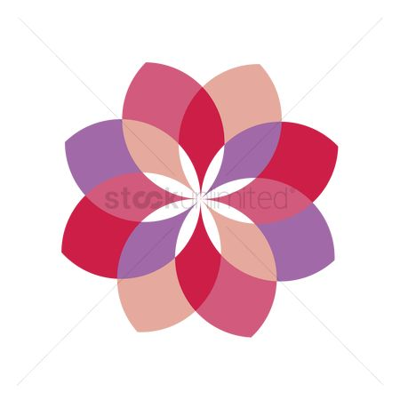 Ornament : Colorful flower