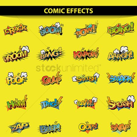 Cartoon : Comic effect set