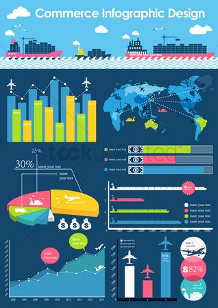 Airplane : Commerce infographic design