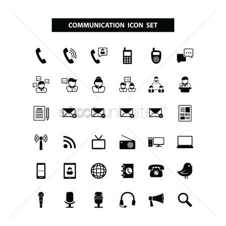 Magnifying : Communication icons