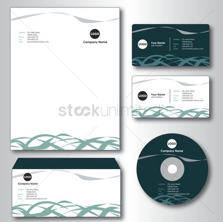 Email : Company paper  envelope  business card and cd