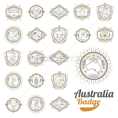 Pineapple : Compilation of australian representation badge