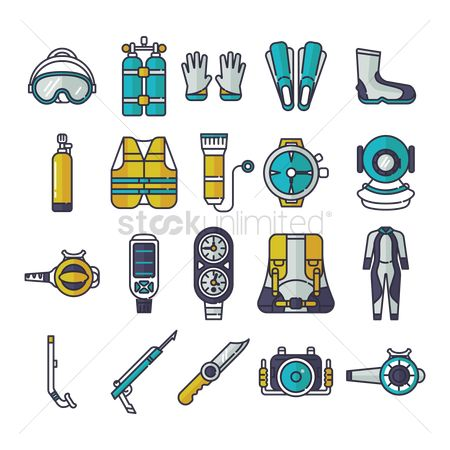 Footwears : Compilation of diving gear