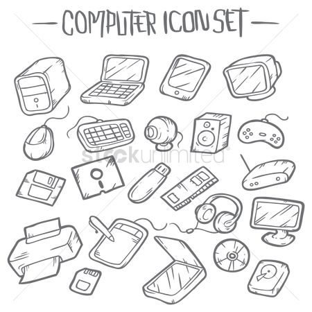 Tablet : Computer icon set