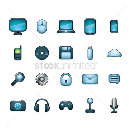 Microphone : Computer icon set