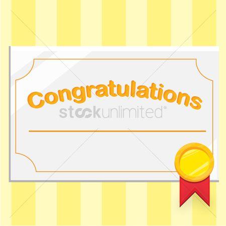 free congratulation certificate stock vectors stockunlimited